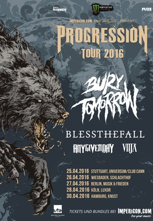 Impericon Progession Tour mit Blessthefall und Bury Tomorrow