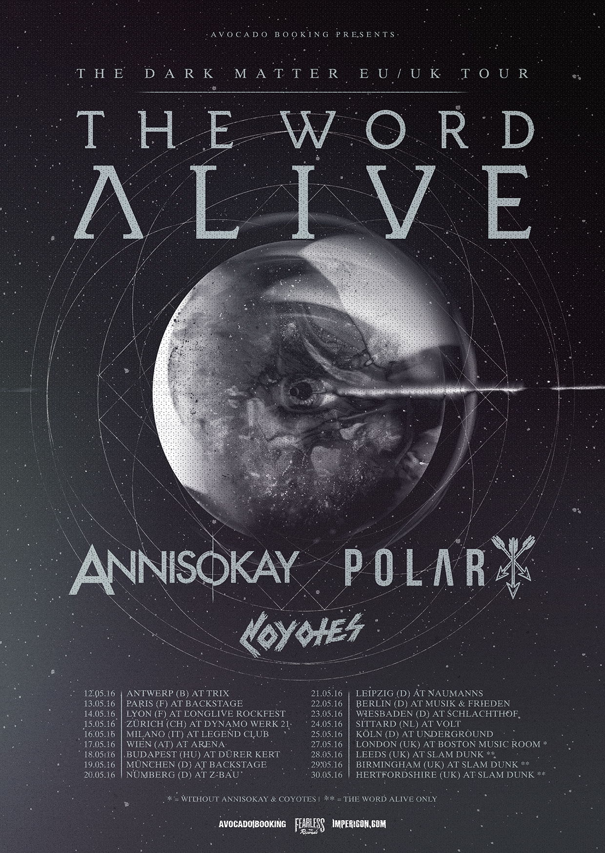 The Word Alive im Mai auf Europa-Tour